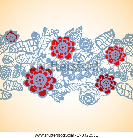 seamless floral ornament - stock vector