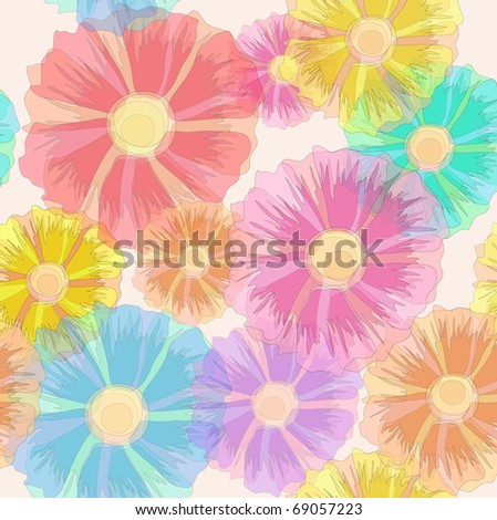 Seamless floral ornament/background, eps10 - stock vector