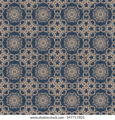 Seamless floral ornament on background. Wallpaper pattern - stock vector