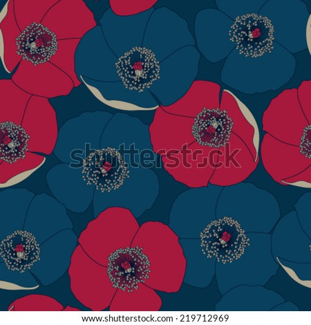 Seamless Floral Pattern. - stock vector