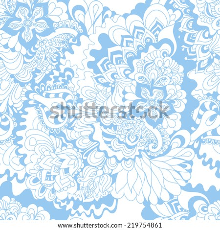 Seamless floral pattern. Abstract hand-drawn floral background. Ornament to create a wallpaper, web design and artwork.
