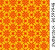 seamless floral pattern background - stock vector