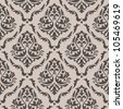 Seamless floral pattern for background design in victorian style. Jpeg version also available in gallery - stock vector
