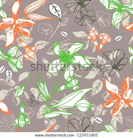 seamless floral pattern for design, vector