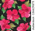 Seamless floral pattern, hand-drawing. Vector illustration. - stock