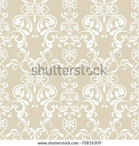 Seamless Floral Pattern. Illustration vector. - stock vector