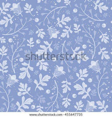 Seamless floral pattern in pastel colors. Hand-drawn vector illustration - stock vector