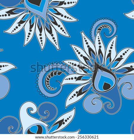 seamless floral pattern in vintage style - stock vector