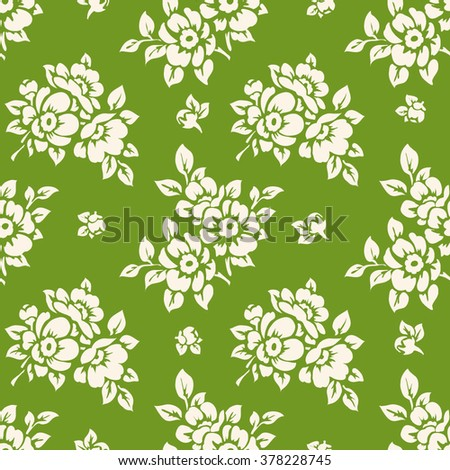 Seamless floral pattern. Spring wallpaper - stock vector