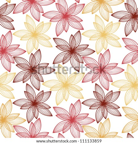 Seamless floral pattern. Stylish repeating texture. Vintage Design.