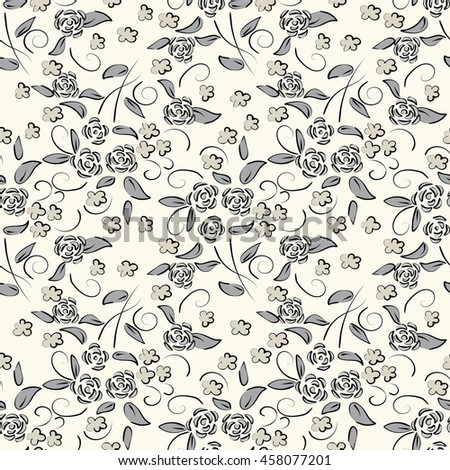 Seamless floral pattern . Vector illustration.