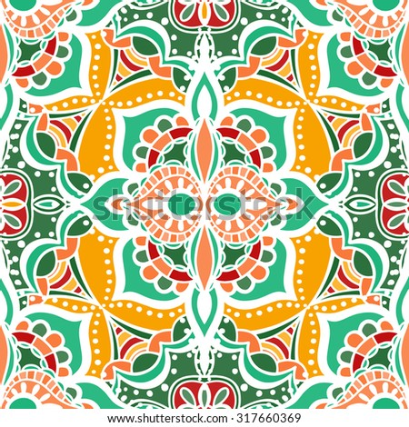 Seamless Floral Pattern. Vector illustration. Hand Drawn Texture