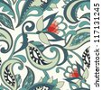 Seamless floral pattern. Vector vintage background. - stock photo