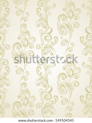 Seamless floral pattern. Vintage background - stock vector