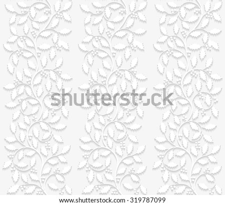 Seamless floral pattern with holly. Vector illustration.  - stock vector