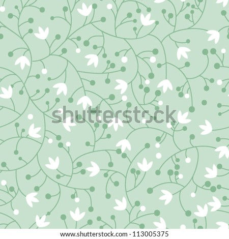 Seamless floral pattern with small lilies - stock vector