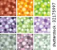 Seamless floral patterns - stock vector