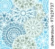 Seamless Floral Texture. Blue Vector Pattern - stock photo