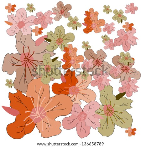 Seamless floral texture. Vector illustration