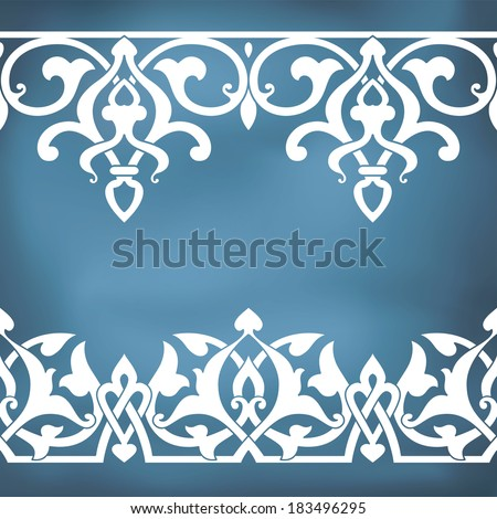 Seamless floral tiling borders. Inspired by old ottoman and arabian ornaments - stock vector