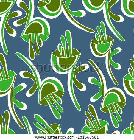 Seamless floral vector pattern.Seamless pattern can be used for web page backgrounds, wallpapers,pattern.Spring bright juicy colors gray green lime white.
