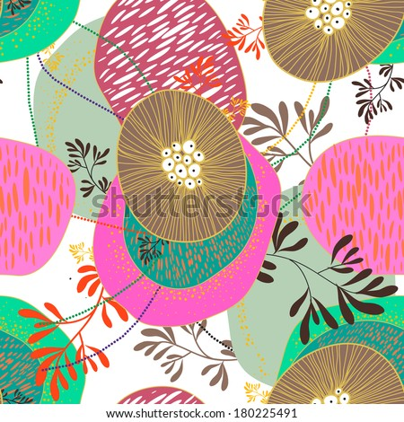 Seamless floral vector texture