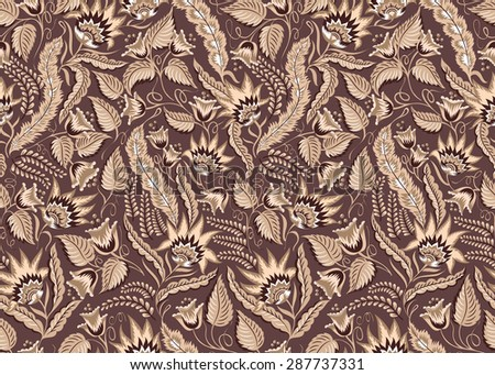 Mehndi Patterns Vector : Seamless floral vintage pattern vector abstract stock