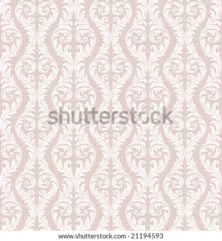 Seamless Floral Wallpaper - stock vector