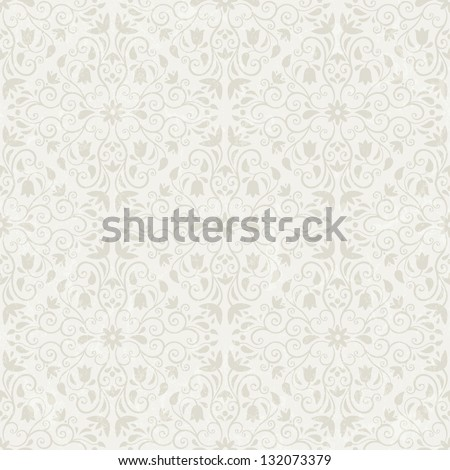 Seamless floral wallpaper. EPS 10 vector illustration. Grunge effect can be removed. - stock vector