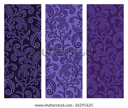 Seamless Floral Web Backgrounds - stock vector
