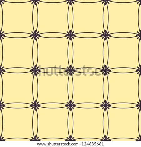 Seamless flower geometric  art pattern background