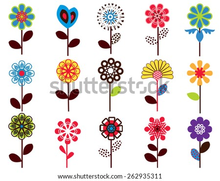 Seamless flower  pattern - access swatch  - stock vector