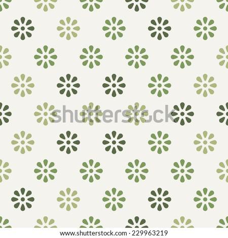 seamless flower pattern background design - stock vector