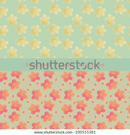 Seamless Flower Pattern, 2 in 1