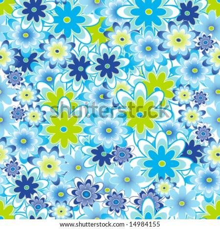 Seamless flower pattern, tile. - stock vector