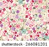 Seamless flower pattern. Vector illustration - stock vector