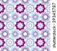 Seamless flower retro pattern in vector - stock vector
