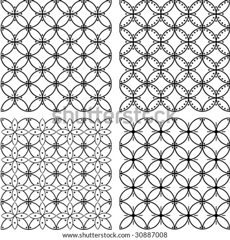 Seamless flower vector pattern