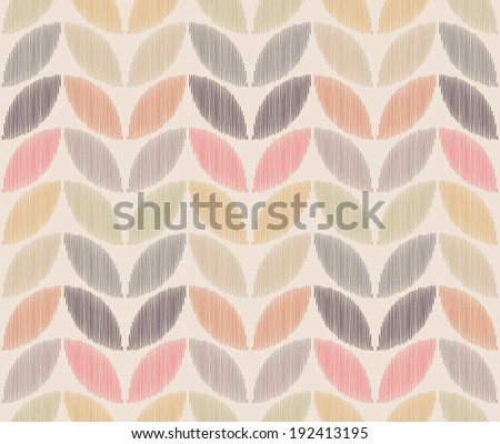 seamless foliage leaf pattern - stock vector