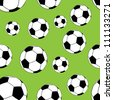 Seamless Football Pattern - stock vector