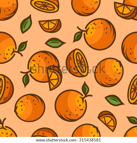 Seamless fruit background - vector pattern with apricot. Vector illustration. Funny fruit. Cute Seamless Pattern. - stock vector