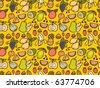 seamless fruit pattern - stock vector