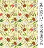 seamless gardening pattern - stock vector