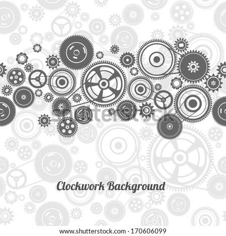 seamless gearwheel mechanism background - stock vector