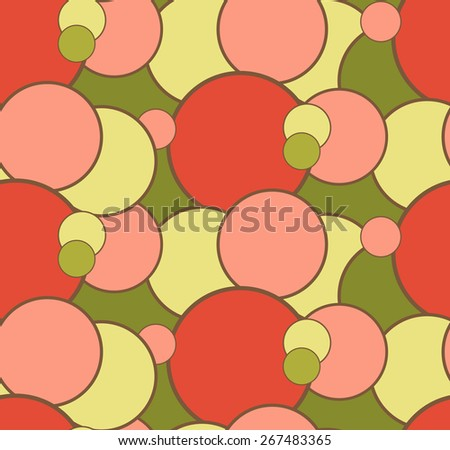 Seamless gentle pattern with circles - stock vector
