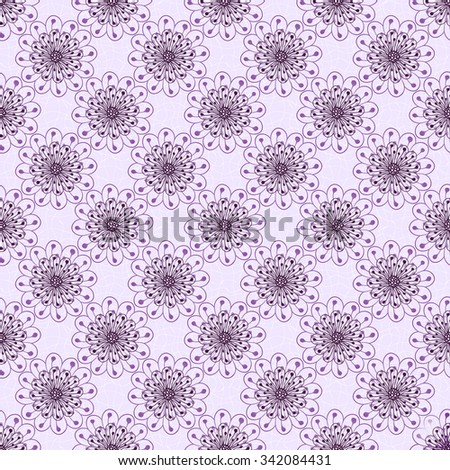 Seamless gentle violet floral pattern with vintage flowers, vector EPS 10  - stock vector