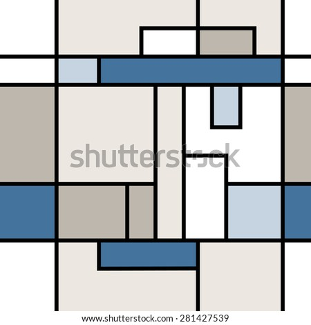 Seamless geometric abstract pattern. Box style