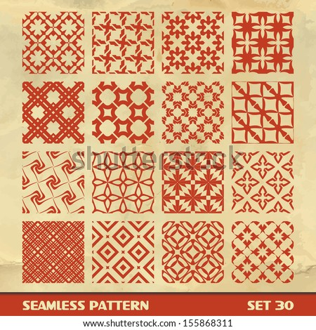 Seamless geometric abstract pattern. Vector set. - stock vector