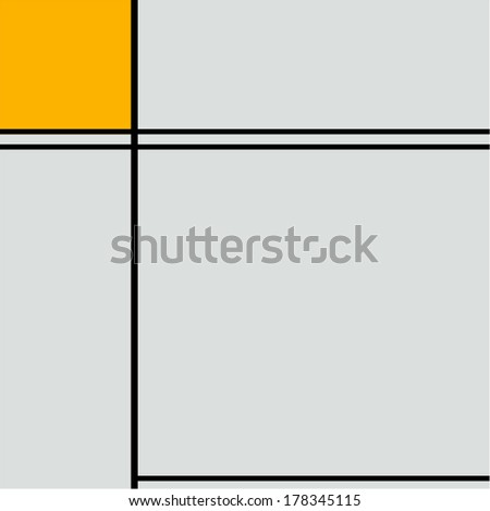 Seamless geometric abstract pattern yellow cube - stock vector