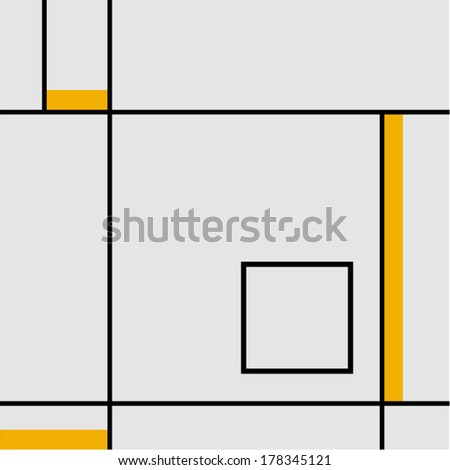 Seamless geometric abstract pattern yellow stripes - stock vector
